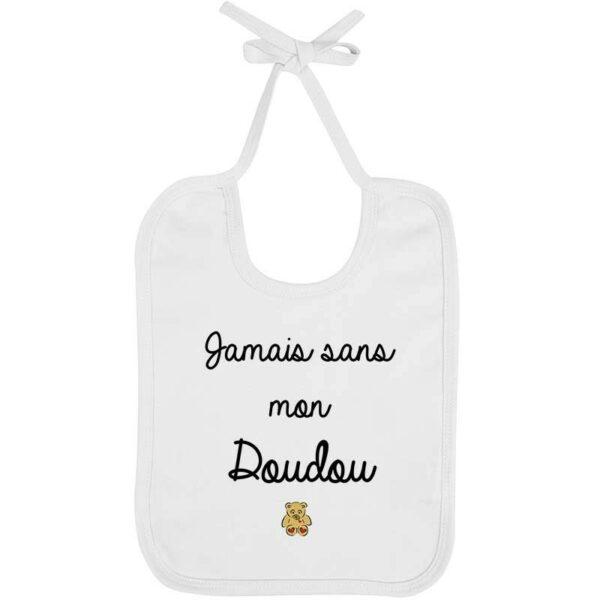 Bavoir Jamais doudou - Fille