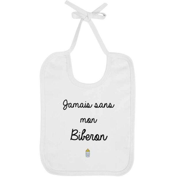 Bavoir Jamais Biberon - Garçon
