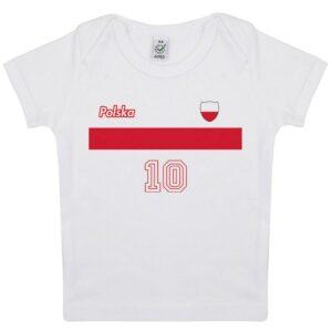 Tee-shirt Bébé foot Pologne