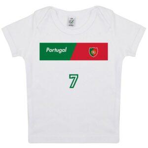 Tee-shirt Bébé foot Portugal