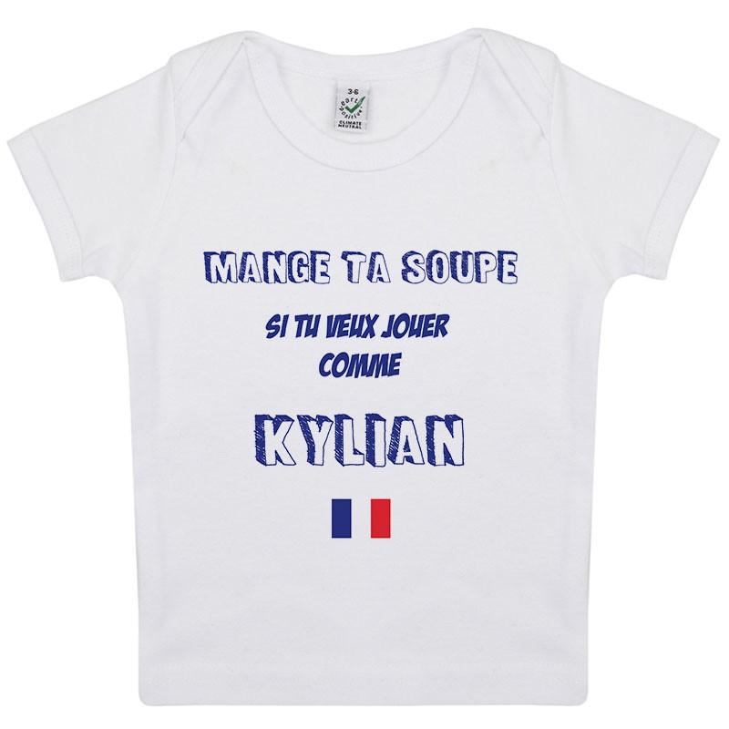 Tee-shirt Bébé Mange ta soupe Kylian