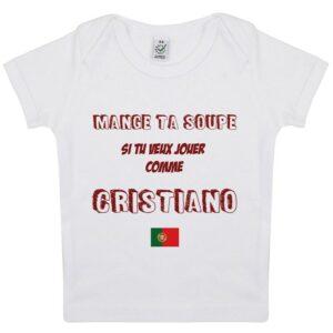 Tee-shirt Bébé Mange ta soupe Cristiano