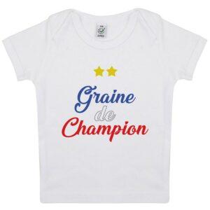 Tee-shirt Bébé Graine de champion