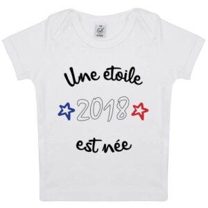 Tee-shirt Bebe 2018 Une étoile est née