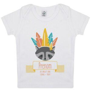 Tee-shirt Naissance personnalisé Raton laveur