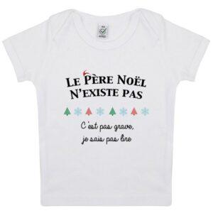 Tee-shirt le père noël n'existe pas