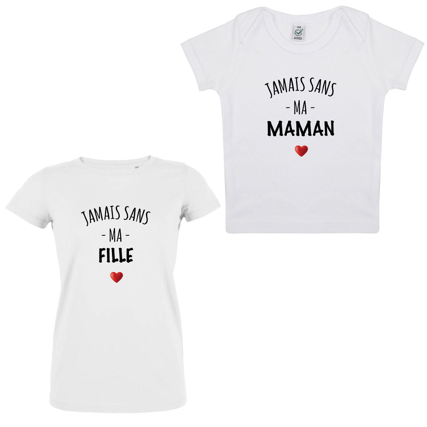 Coffret Tshirt Jamais sans Mère-Fille