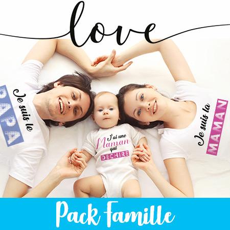 t shirt pack famille