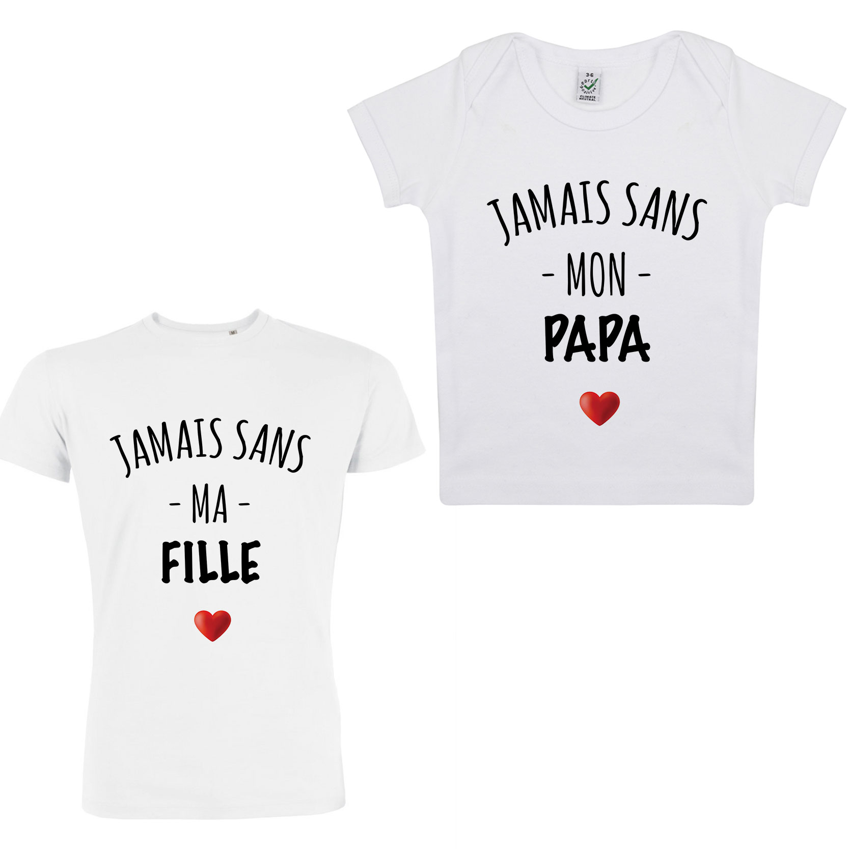 Tee-shirt jamais sans ma fille