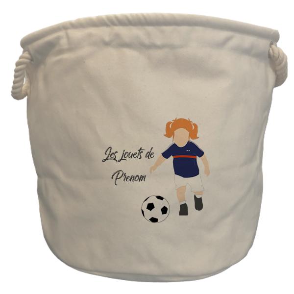 sac à jouets France fille rousse