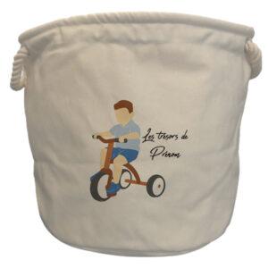 sacs à jouets tricycle garçon chatain
